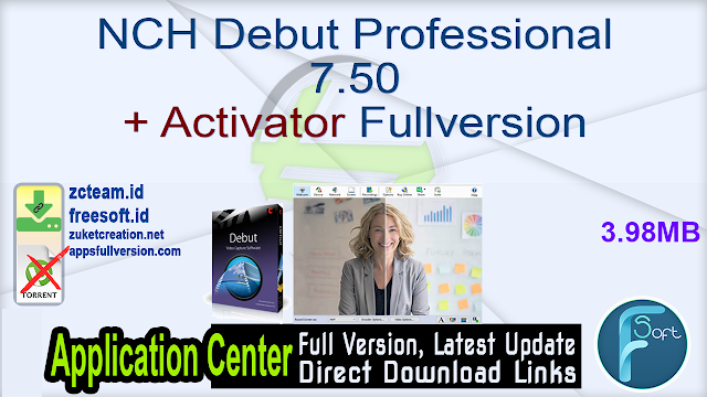 NCH Debut Professional 7.50 + Activator Fullversion