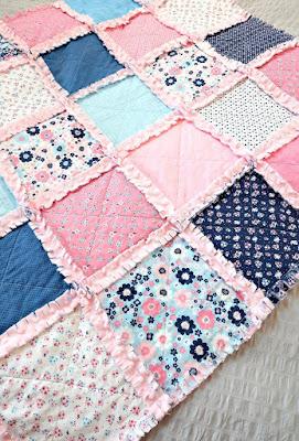patchwork rag quilt.