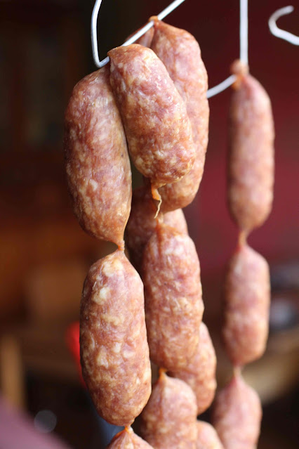 saucisse issan fermentée a l'ail