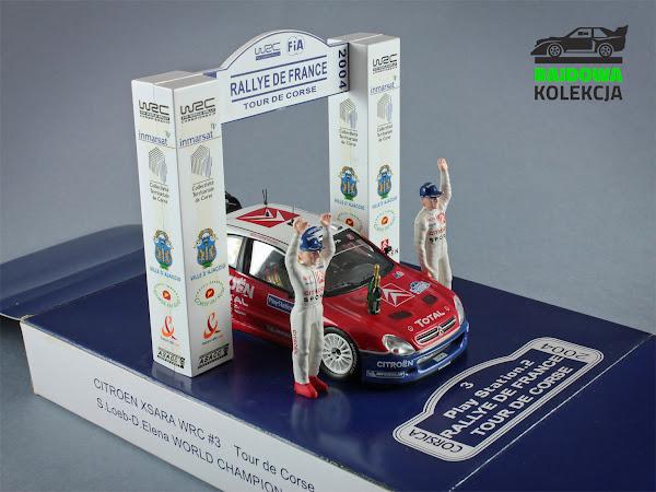 IXO RAM159 Citroen Xsara WRC  Rallye de France  World Champion 2004 Diorama
