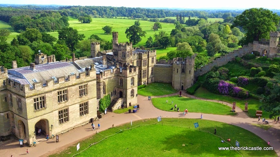 Warwick Castle Review - castle from above