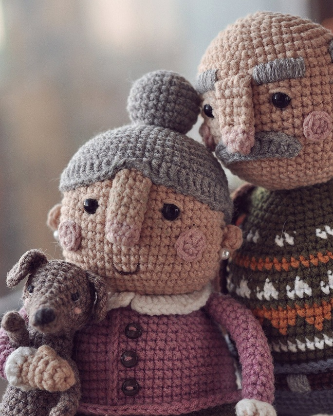Описание вязания крючком кукольной пожилой семейной пары (9)