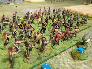 The Gauls attack led by Asterix and Obelix!