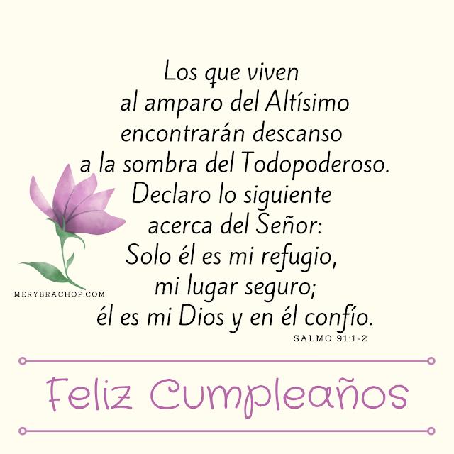 frases del salmo 91 para desear feliz cumpleaños