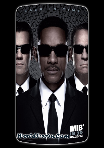 Poster Of Men in Black 3 (2012) Full Movie Hindi Dubbed Free Download Watch Online At worldfree4u.com