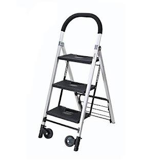 Carrinho de Carga e Escada Dobravel  3 Lance de Degraus