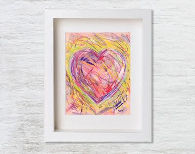 Love heart art print by Kim W. Nolan