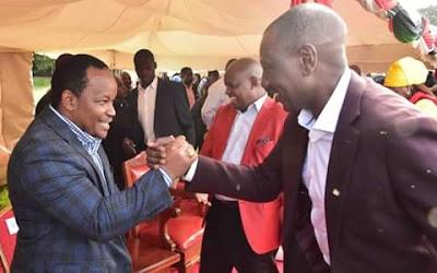 DP Ruto and Ngunjiri Samburu. PHOTO | BMS