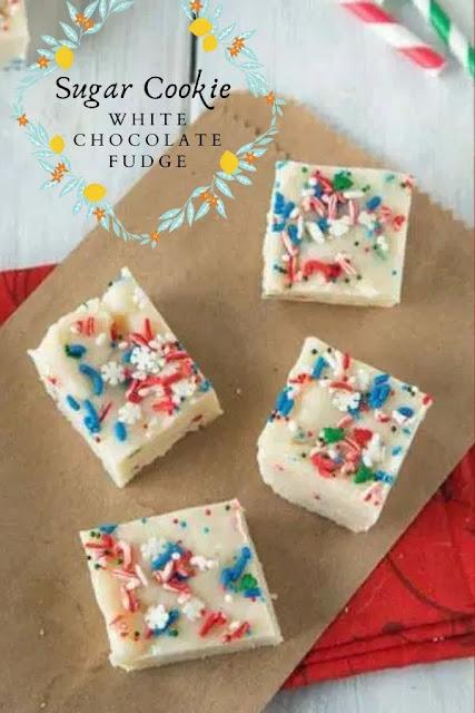 Sugar Cookie White Chocolate Fudge #Sugar #Cookie #White #Chocolate #Fudge Dessert Recipes Easy, Dessert Recipes Healthy, Dessert Recipes For A Crowd,