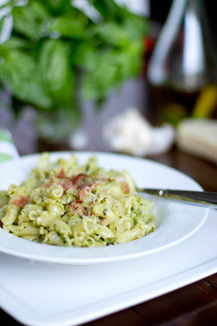 This 15 minute pesto pasta is one of our all time favorite dinners, especially during summer to use up all of that basil! ohsweetbasil.com