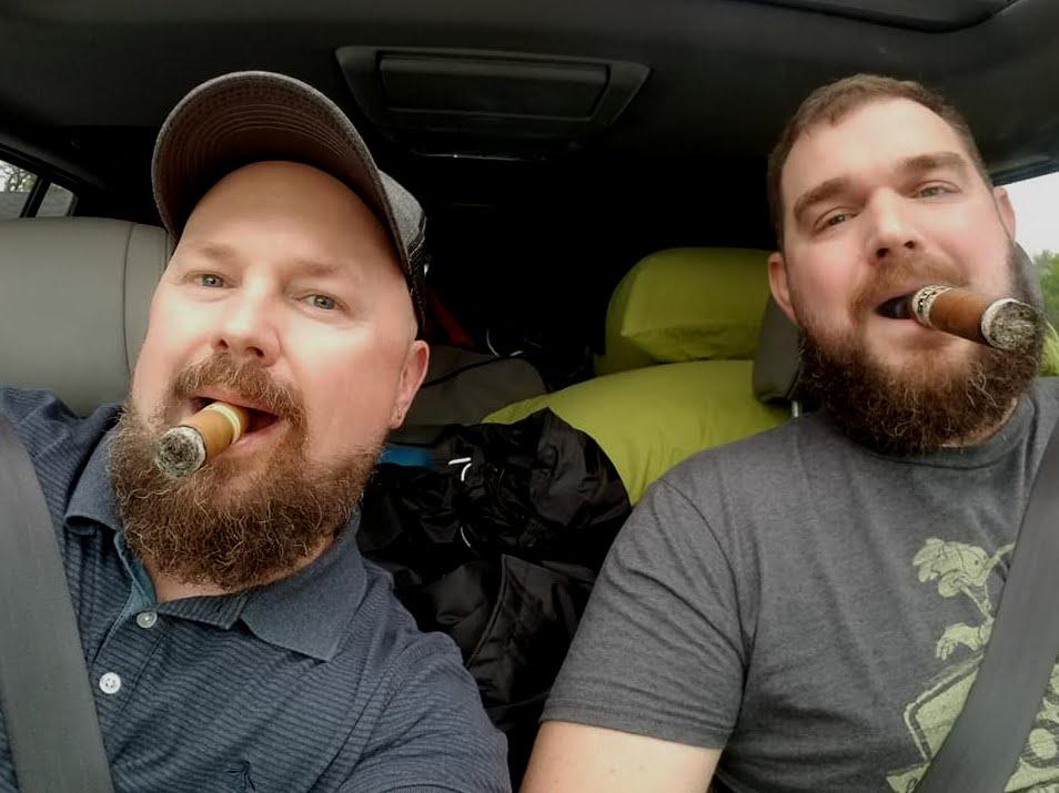 Cigar Smoking Hunks: SOME MORE BEARDED SMOKERS