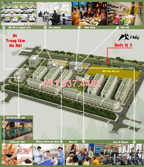 Mở bán Dự án Happy Land Đông Anh 1-5 liền kề shophouse đất nền tại thị trấn Đông Anh
