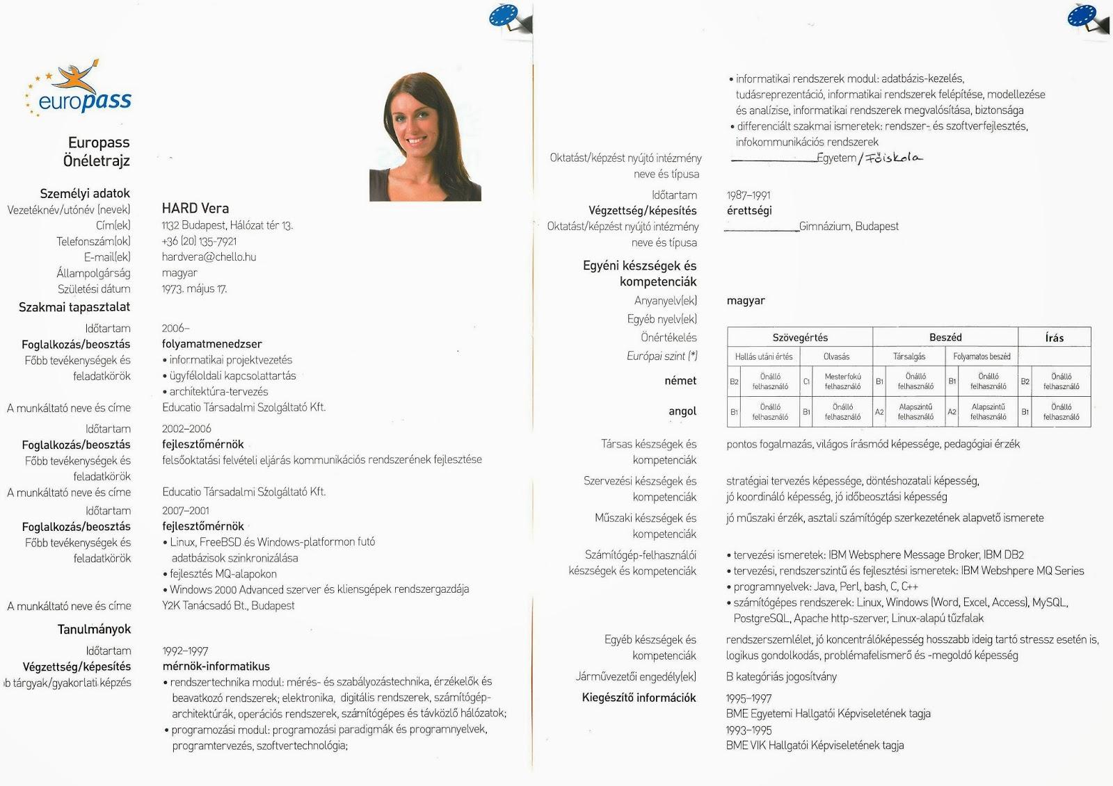 europass önéletrajz alap Álláskeresési tanácsok. Hogyan legyünk sikeresek?!: 2013 europass önéletrajz alap