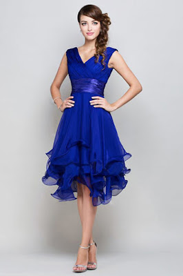 Blog mode de persun tag robe pour mariage for Robe bleue pour mariage