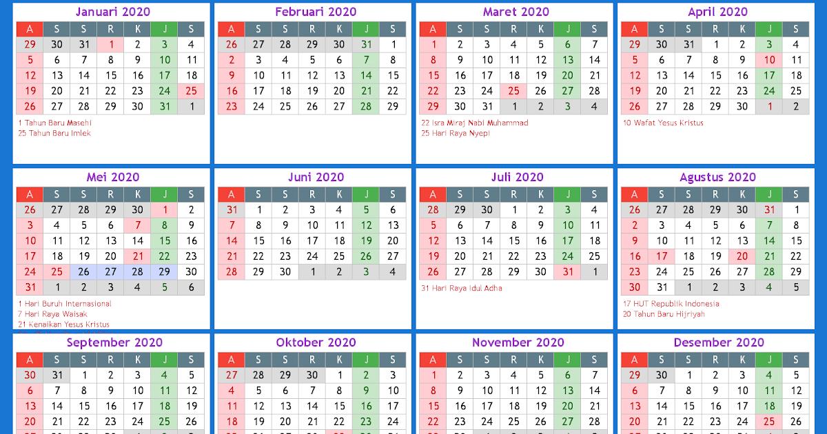 Kalender Indonesia Online 2020