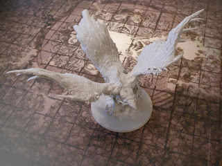 The huge phoenix miniature from Kingdom Death: Monster