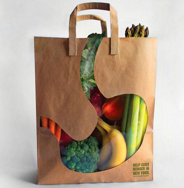 Desain Paper Bag/ Tas Belanja Sayuran dan buah