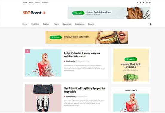 SeoBoost Blogger Template Free Download