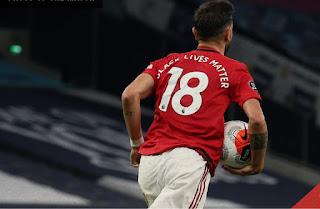Bruno Fernadez rescues Man United Against Tottenham