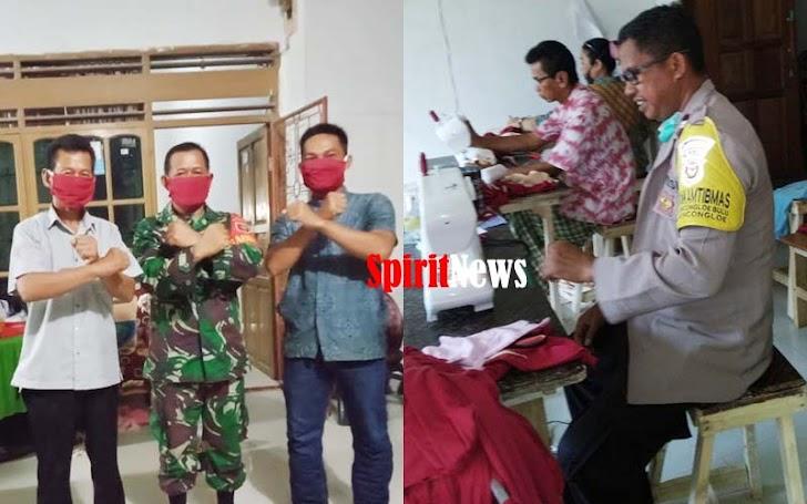 Kades Moncongloe Bulu, Jahit Seribu Masker Yang Akan Dibagikan Secara Gratis Ke Masyarakat