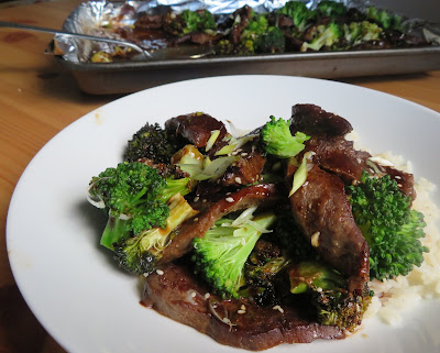 Sheet Pan Beef & Broccoli for Two