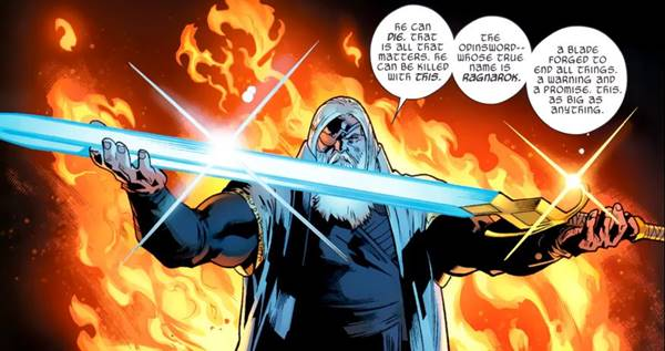 Odinsword, salah satu senjata terkuat Asgard