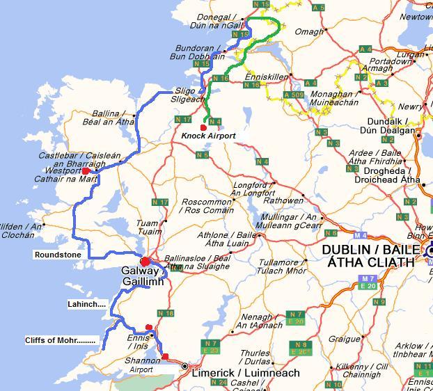 Map Of North West Ireland.Drivingandlife Touring North West Ireland