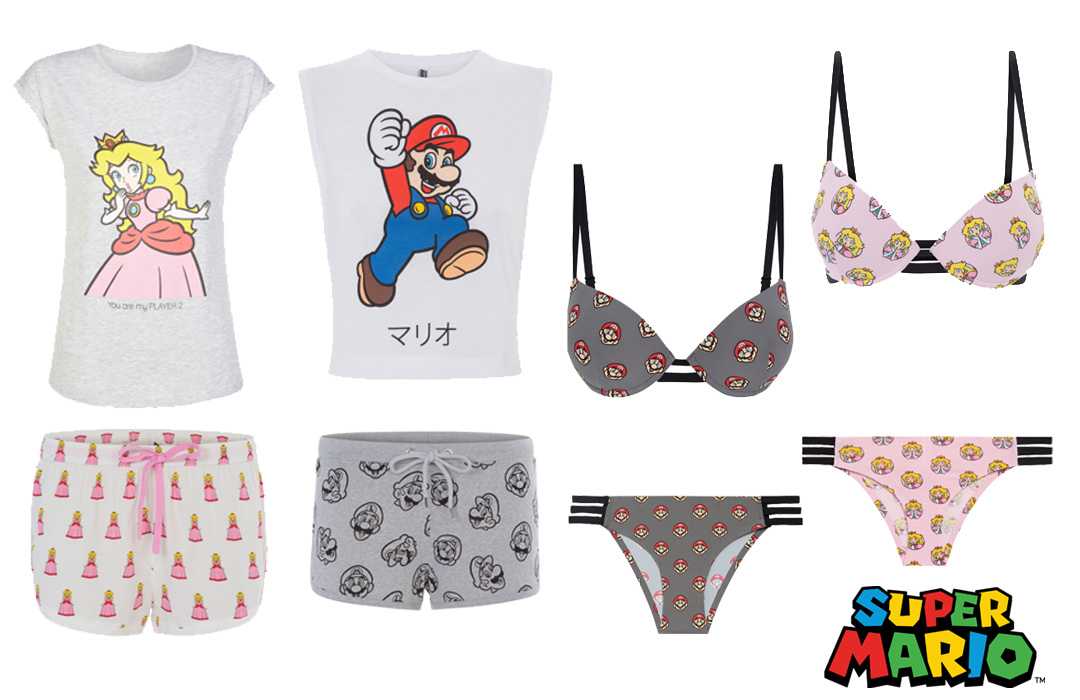 Undiz, geek collection, nintendo, super mario, princess peach, underwear, lingerie, pj's pajamas