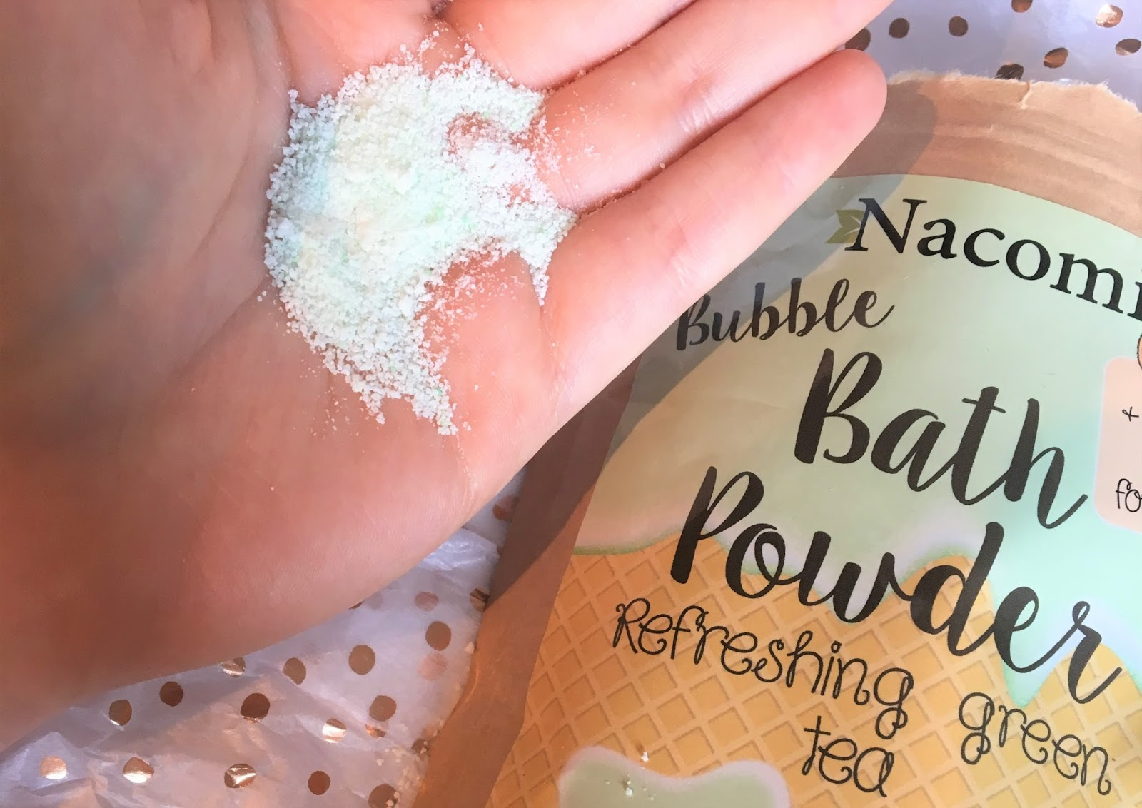 Nacomi Green Tea Bubble Bath Powder