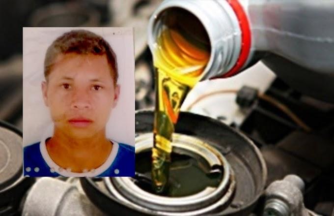 Jovem morre após beber óleo de motor em Serrolândia