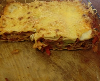 Vegetable and beef lasagna