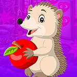 Games4King Porcupine Escape With Apple