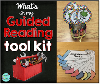 a blog post with suggestions for must have tools to teach Guided Reading