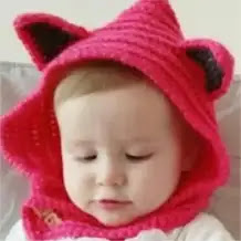 Capucha Gatito a Crochet