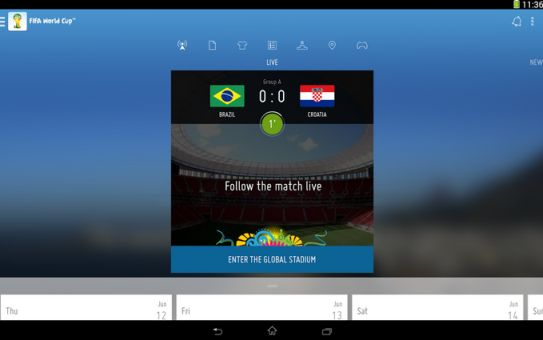 FIFA world cup 2014 official app