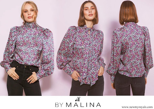 Princess Sofia wore By Malina Penny blouse wild-blossom