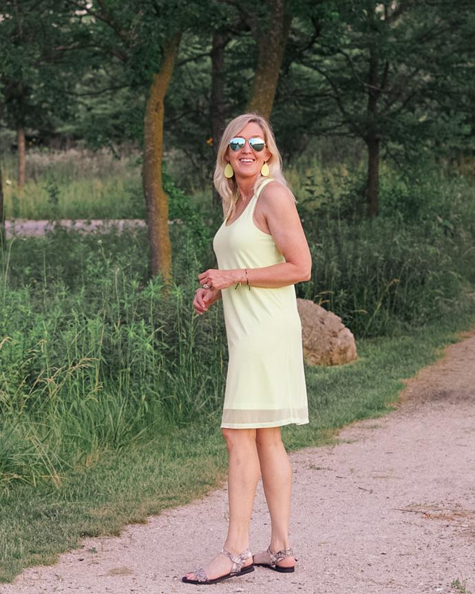 cute lime green summer dress