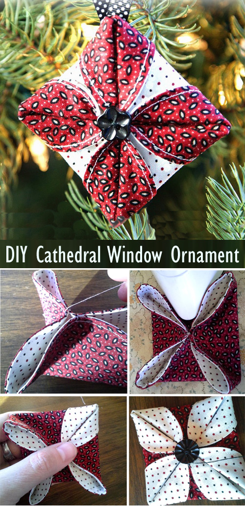 Cathedral Window Ornament Tutorial