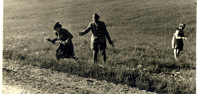 Heinrich Himmler gathers daisies with is family 19 June 1941 worldwartwo.filminspector.com