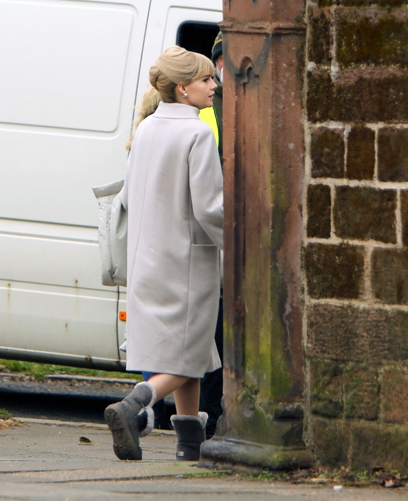 Lucy Boynton Clicked on the Set of The Ipcress File in Liverpool 8 Apr-2021