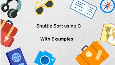 Shuttle Sort using C