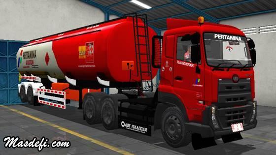livery truck ud quester trailer tangki pertamina aviation