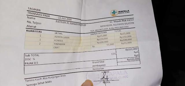 Biaya berobat telinga di dokter THT mapala medical clinik