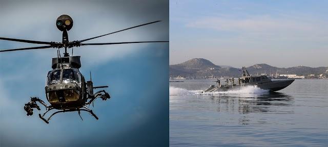 Βάπτισμα πυρός για τα νέα όπλα των ΕΔ: Στον «Παρμενίων» θα μπουν σε δράση Kiowa-Mark V-UAVs Heron