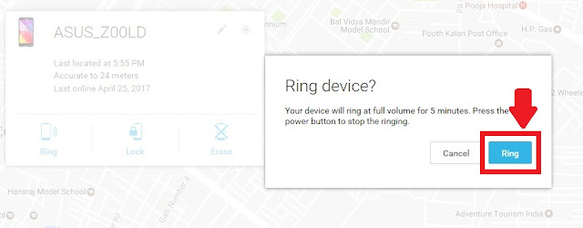 How to Locate our lost mobile by using Google