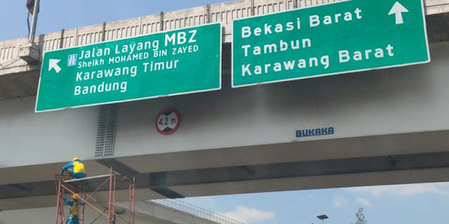 Mulai Hari Ini, Nama Tol Layang Japek Jadi Jalan Layang MBZ Sheikh Mohamed Bin Zayed