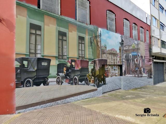 Vista lateral do belo Grafite São Paulo Antiga - Bela Vista / Bixiga - São Paulo