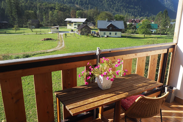 view from balcony in Obertraun