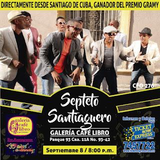 Concierto de El Septeto Santiaguero en Bogota