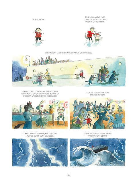"""page de """"CHRONIQUES DE L'ILE PERDUE"""" de Loic Clément et Anne Montel chez Soleil"""